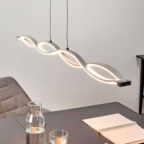 Wave-shaped Tura hanging lamp with bright LEDs