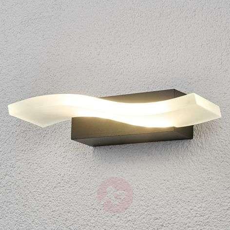 Wavy LED outdoor wall light Jirka