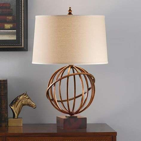 Well-designed fabric table lamp Spencer
