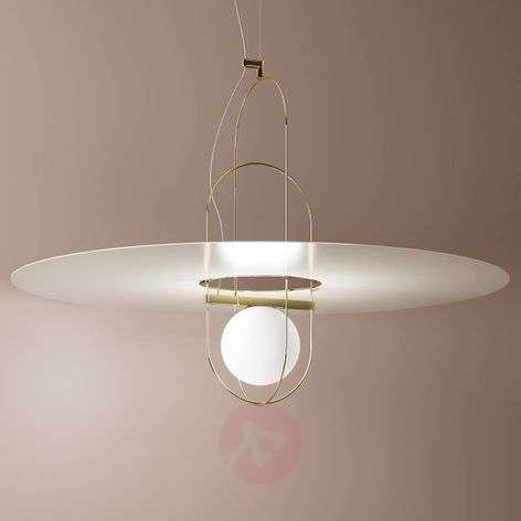 White and golden LED hanging light Setareh