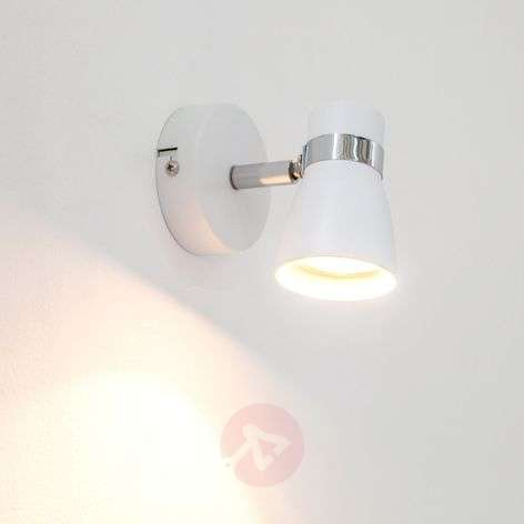 White Arjen wall light with GU10 LED