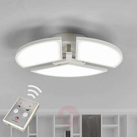 White Aurela LED ceiling lamp, adjustable