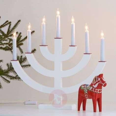 White candleholder Egil, 7 lights