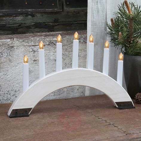 White candleholder Viking Bow, 7 lights