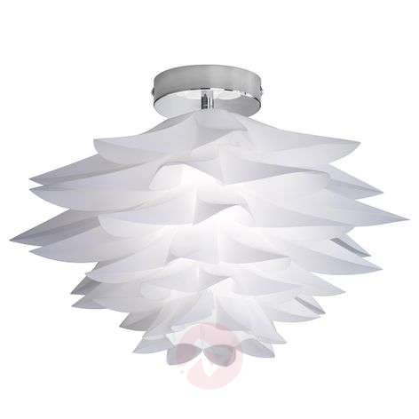 White ceiling light Bromelie with a floral look