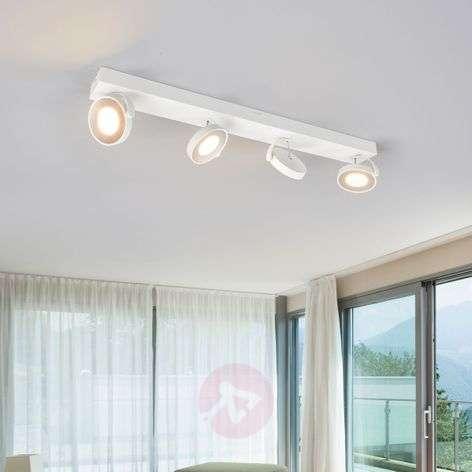 White Clockwork LED ceiling spotlight