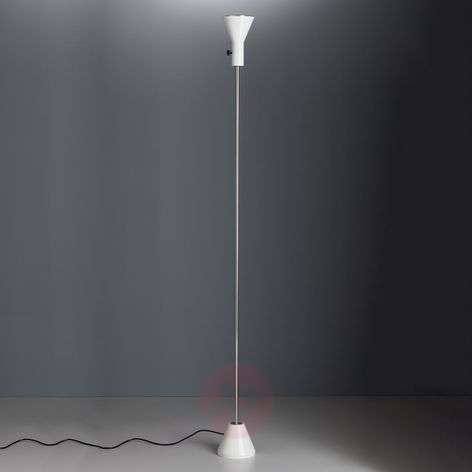 White designer-floor lamp Gru with LED-light