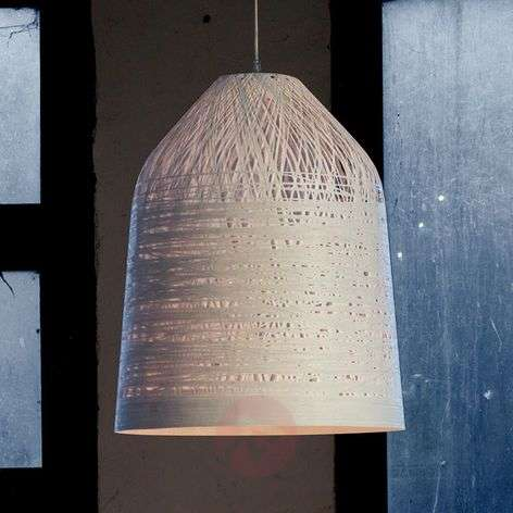 White designer pendant lamp Black Out