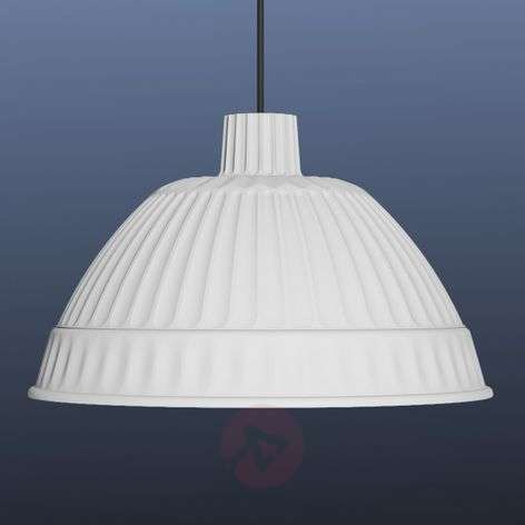 White designer pendant light Cloche