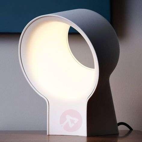White designer table lamp La Lente