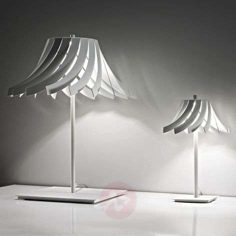 White designer table lamp Panama with LEDs