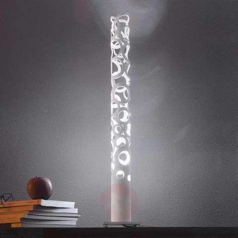 White designer table lamp Thor