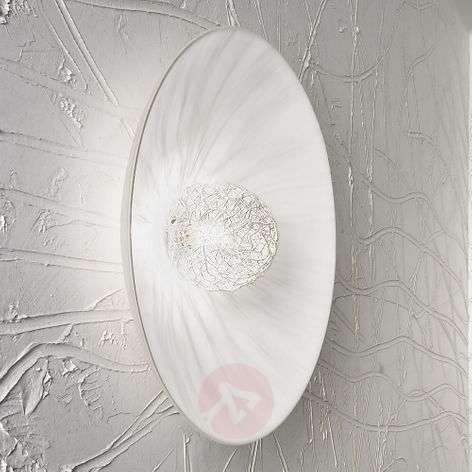 White designer wall light Padella, G9, 36 cm