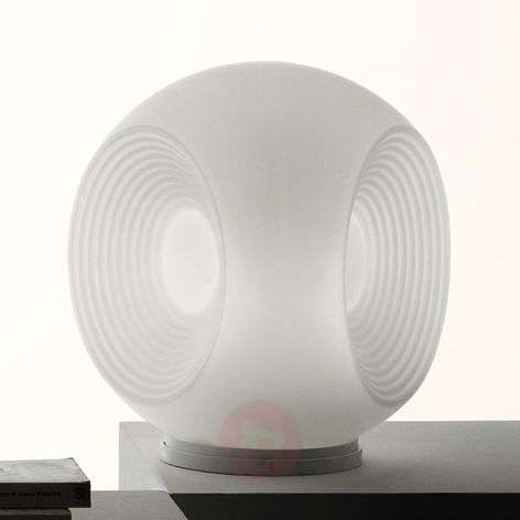 White Eyes glass table lamp