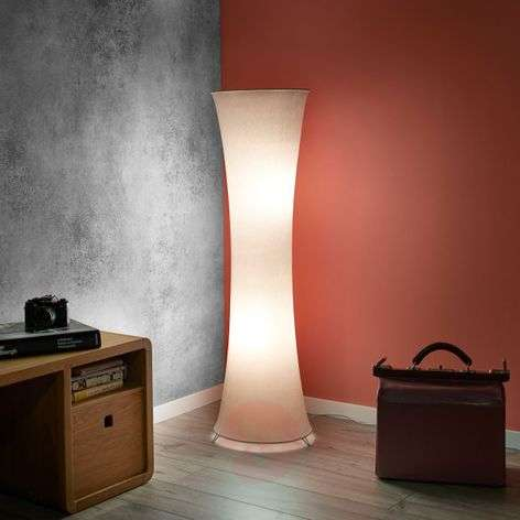 White fabric floor lamp Gravis-8029128-31