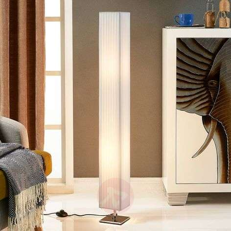 White fabric floor lamp Janno