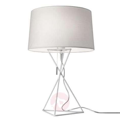 White fabric table lamp New York