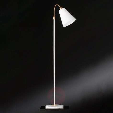 White floor lamp Hopper with bronze details