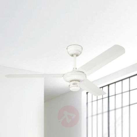 White industrial ceiling fan