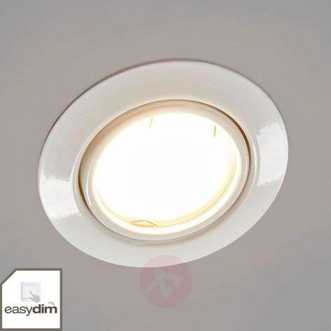 White Juna LED recessed lights, set of 3 Easydim