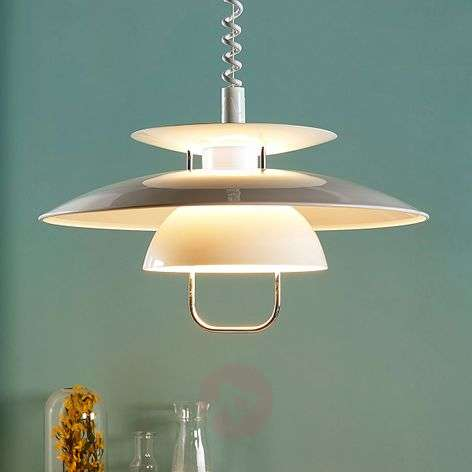 White kitchen hanging light Nadija