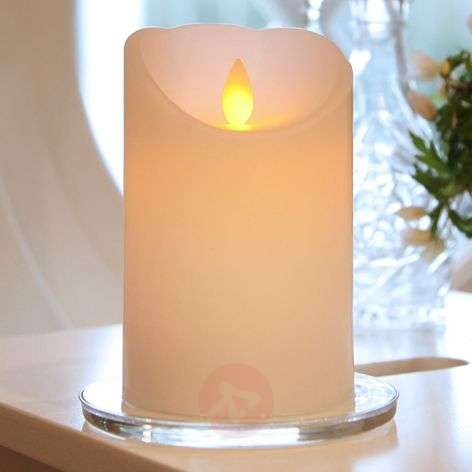 White LED candle Glim w. flickering light