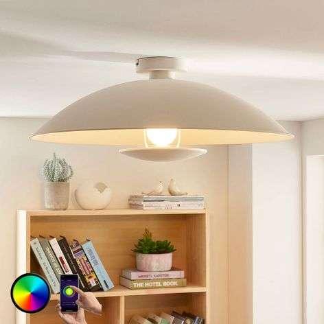 White LED ceiling light Arthur, E27 RGB