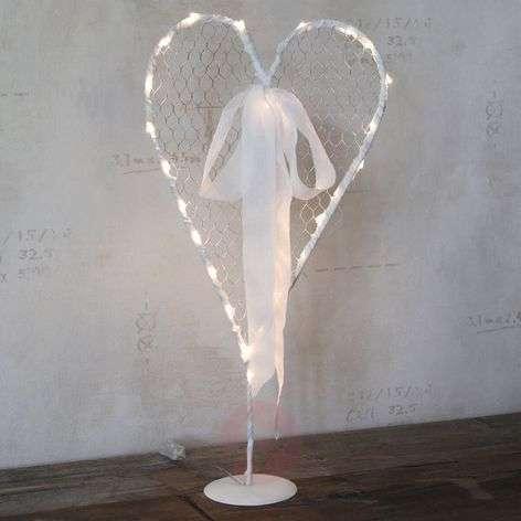 White LED decorative heart Mammas Hjärta