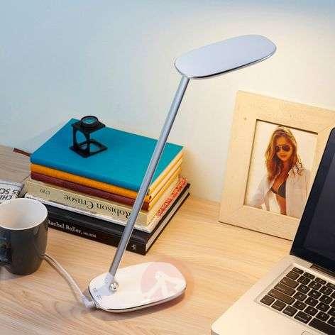 White LED desk lamp Verena, USB port-9621312-32