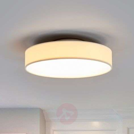 White LED fabric ceiling lamp Saira