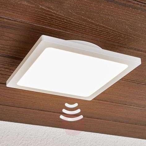 White LED outdoor ceiling light Mabella, sensor