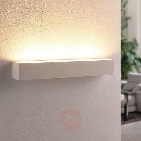 White LED plaster wall uplighter Santino, angular