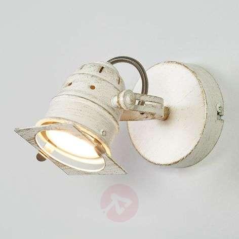 White LED spotlight Janek with GU10 bulb