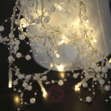 White LED string lights Pärla Garland