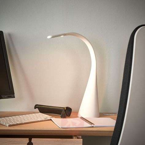 White LED table lamp Majani, dimmable and with USB