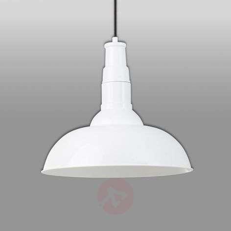 White, metal Bar pendant light