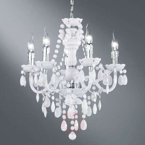 White Perdita chandelier with beautiful decoration