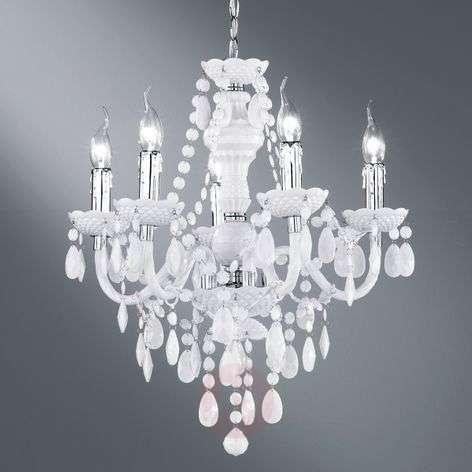White Perdita chandelier with beautiful decoration