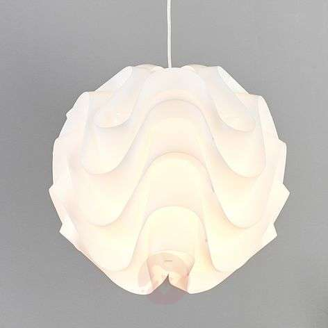 White plastic Tilly pendant light