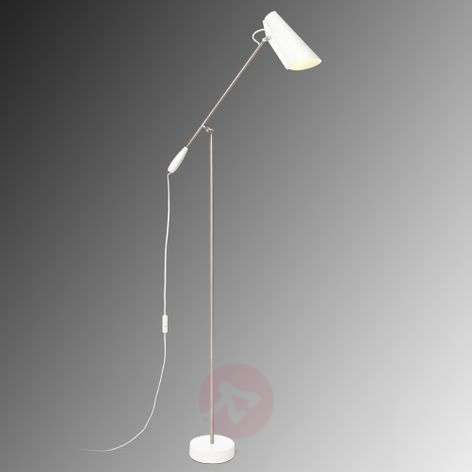 White retro floor lamp Birdy