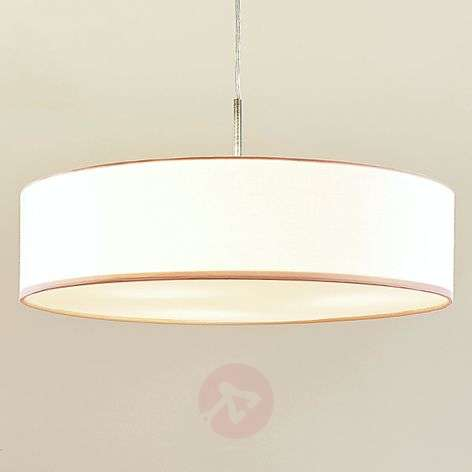 White Sebatin LED fabric pendant lamp