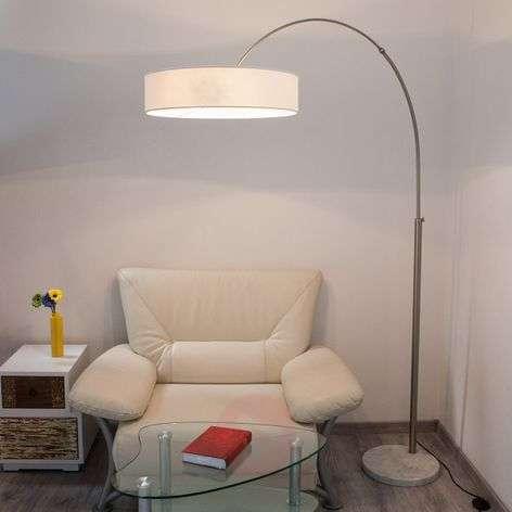 White Shing fabric floor lamp