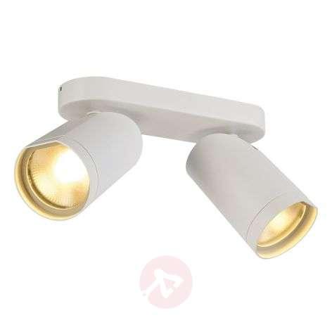 White Silas LED spotlight ceiling light, 2-lt.