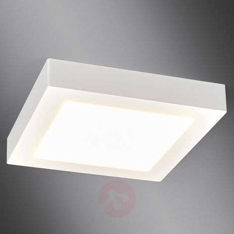 White, square LED bathroom ceiling light Rayan