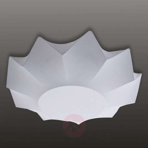 White textile ceiling light Art 60 cm