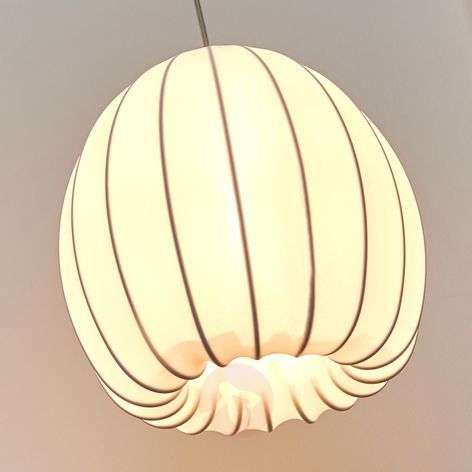 White textile pendant light Muse