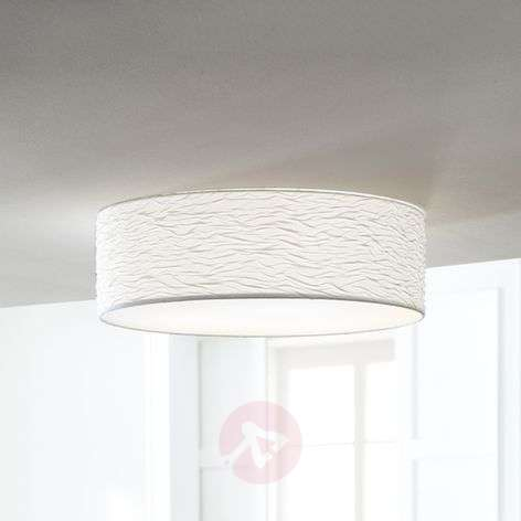 White Vita 3 ceiling light with pretty waves