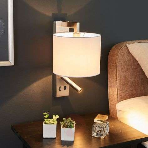 White wall lamp Mavis with LED reading light-9641099-32