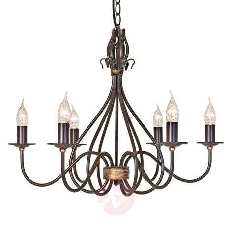 Windermere Hanging Light Six Bulbs Rustic