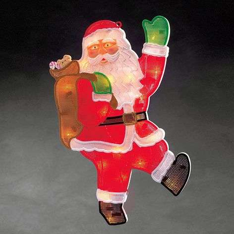 Window picture Santa Claus with LEDs 20-bulb